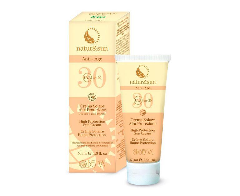 Crema solar facial alta protección spf30 Bema Cosmetici