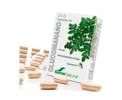 21-S Glucomanano cápsulas simples Soria Natural