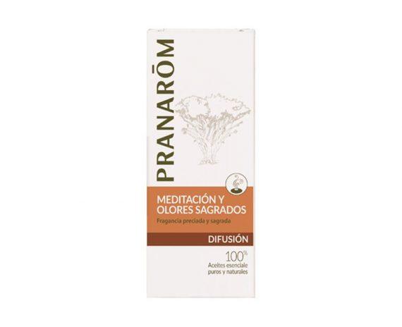 Meditación y Olores sagrados mezcla para difusor Pranarom