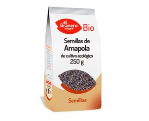 Semillas de Amapola cultivo ecológico bio El Granero Integral