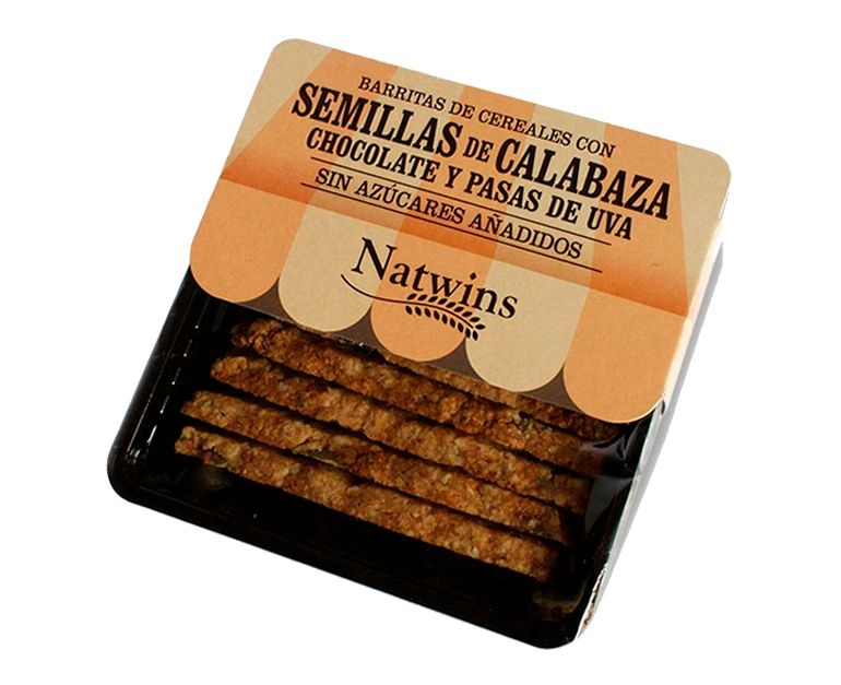 Barrita Cereales Semilla calabaza, chocolate y pasas Natwins