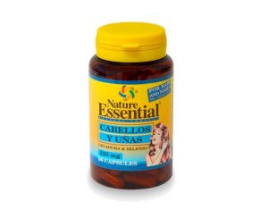 Cabello y uñas Levadura y Selenio cápsulas Nature Essential