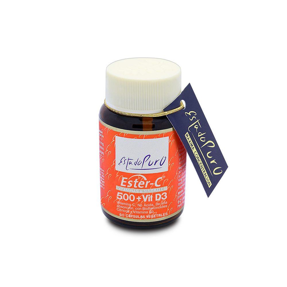 Ester-C + Vitamina D3 cápsulas Tongil