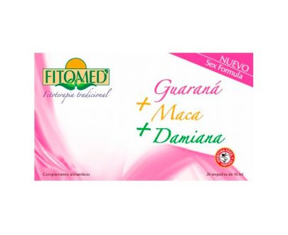 Fitomed SF guarana maca y damiana ampollas