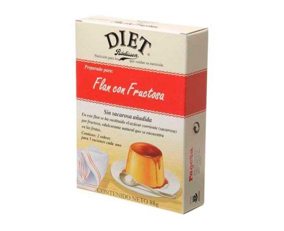 Flan con fructosa Diet Radisson
