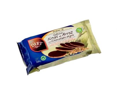 Galletas finas arroz chocolate sin gluten Diet Radisson