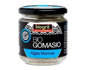 Gomasio con Algas envase cristal bio Biográ