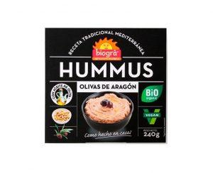 Hummus berenjena asada bio Biográ