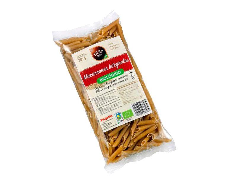 Pasta bio integral macarrones Diet Radisson
