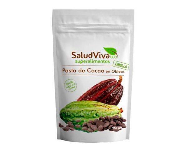 Pasta de Cacao en Obleas eco superalimentos Salud Viva