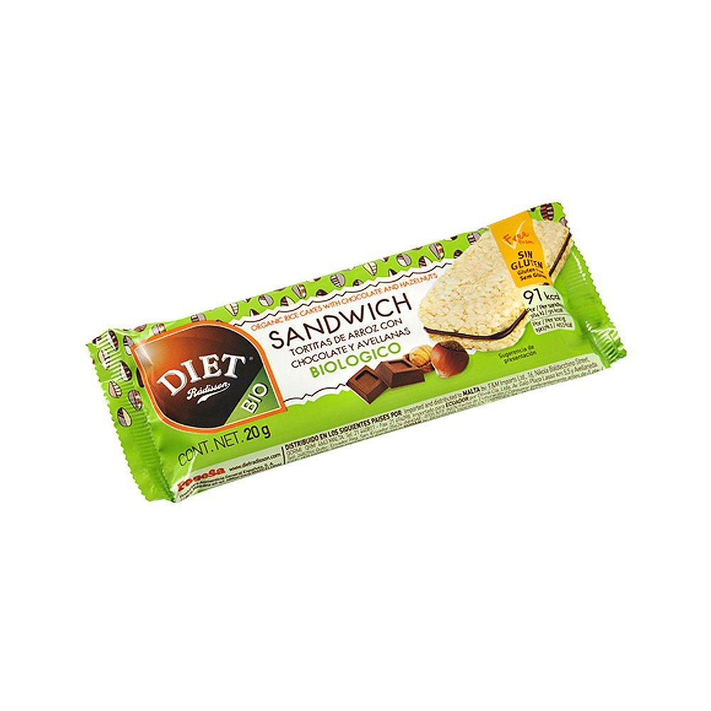 Sandwich arroz cacao avellanas Diet Radisson