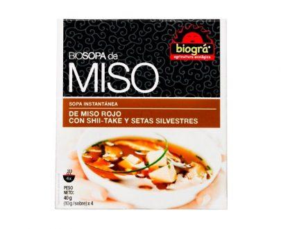 Sopa Miso con Setas bio Biográ