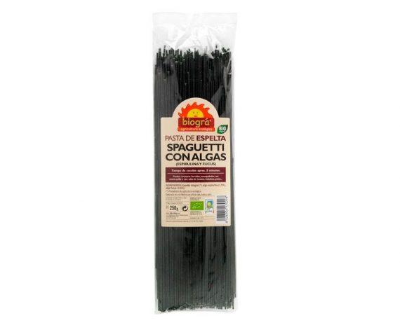 Spaguetti con Algas Espirulina y Fucus bio Biográ