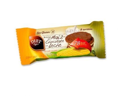 Tortitas de maíz chocolate con leche sin gluten Diet Radisson