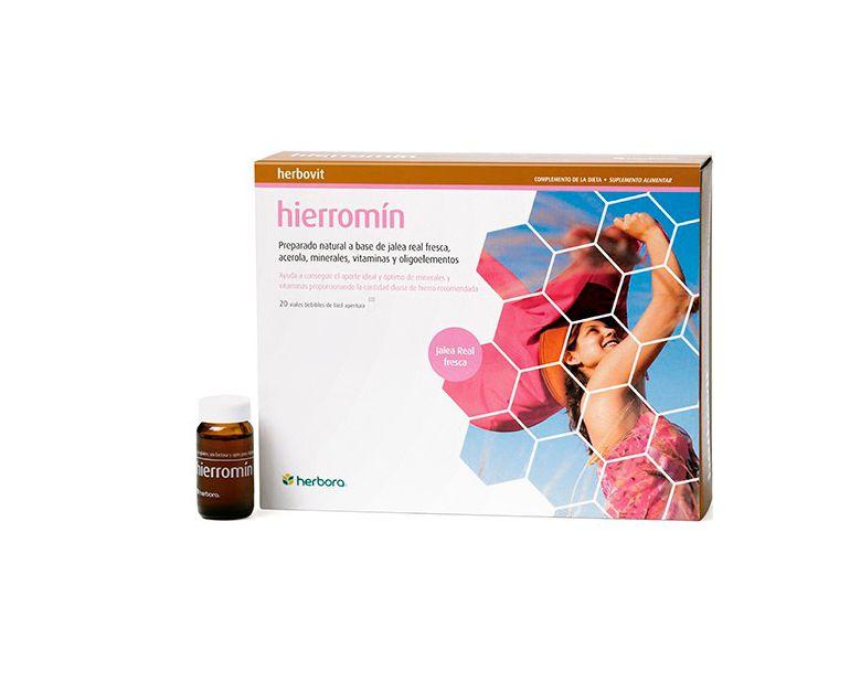Hierromín herbovit viales