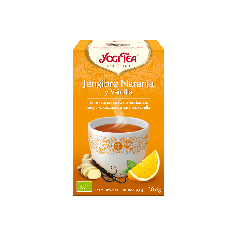 Jengibre Naranja y Vainilla Bio Yogi Tea