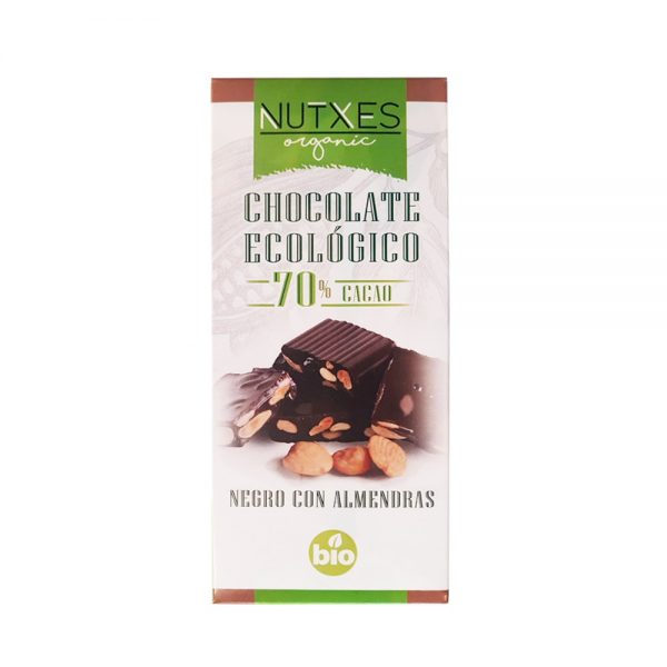 Chocolate Negro con Almendras Eco 70%